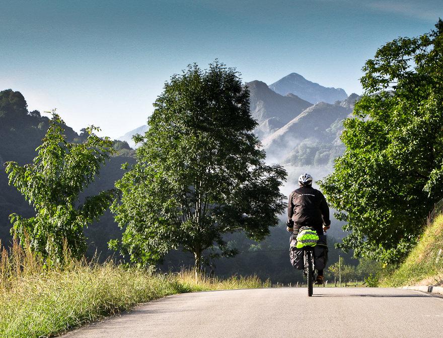 Biker riding Cycling Spain tour of Picos de Europa
